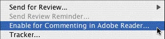 Enable for commenting in Adobe Reader