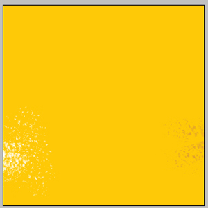 Yellow background illustration in Photoshop CS2