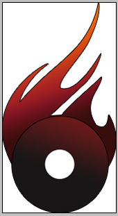 design fire logo in adobe photoshop cs