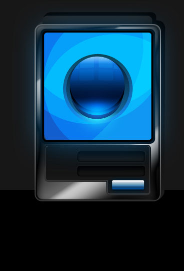 Create Futuristic ATM software interface in Photoshop CS