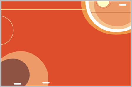 Design Abstract orange background in Photoshop CS