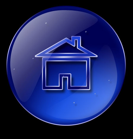 Create New Home Cute Icon in Photoshop CS