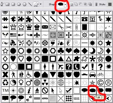 Create web site menu with icons in Photoshop CS