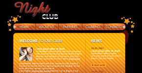 Web layout for Night Club