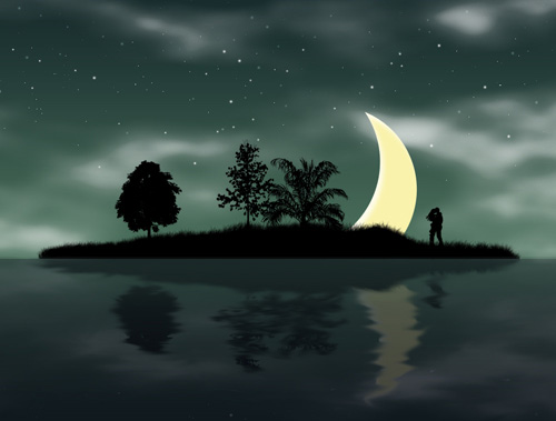 Create Summer Night Wallpaper in Photoshop CS3