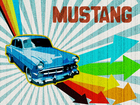 Create Retro Lighting - Ford Mustang in Photoshop CS3
