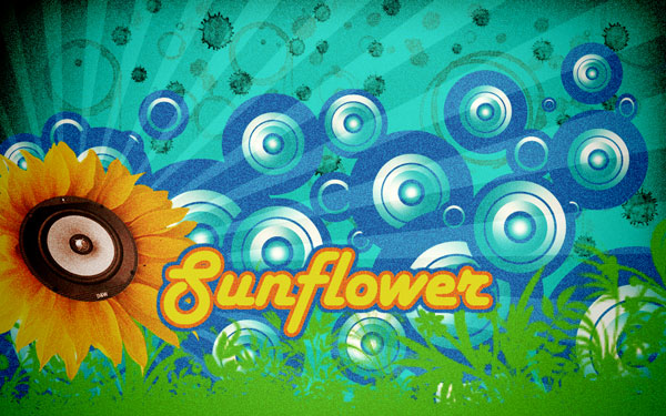 How to create retro sunflower poster in Photoshop CS3