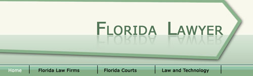 Professional Header for Florida Lawyer website in Photoshop CS