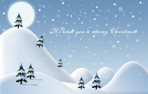 We wish you a Merry Christmas illustration in Photoshop CS3