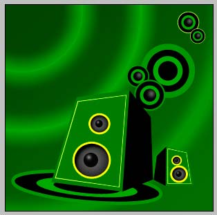 Create Disco DJ Speakers Graphic in Photoshop CS