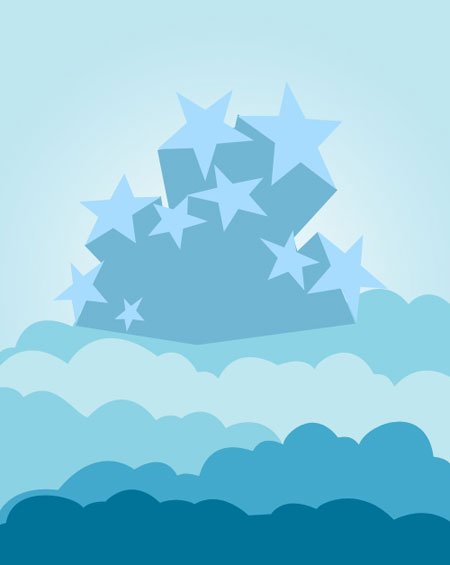 Create Background of Stars and Clouds in Photoshop CS