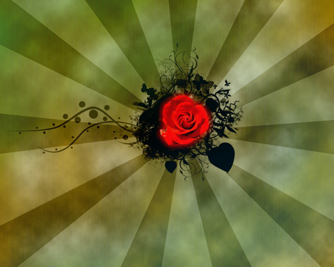 Create Rose for Saint Valentine's Day in Photoshop CS3