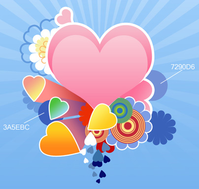 Designing the abstract background for Valentine Day in Photoshop CS3