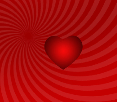 Create background of heartshape forms for Valentine's Day in Photoshop CS3