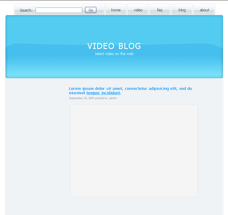 Create Video Blog Web Page in Photoshop CS3