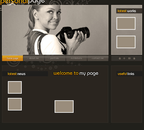 Making your own portfolio web page in Photoshop CS3