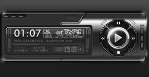 Designing a Black Audio Player Interface