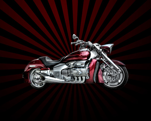 Create Harley Davidson Motorcycle Wallpaper in Photoshop CS3