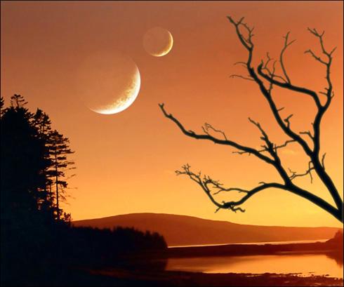 Create Orange Sky Illustration in Photoshop CS3