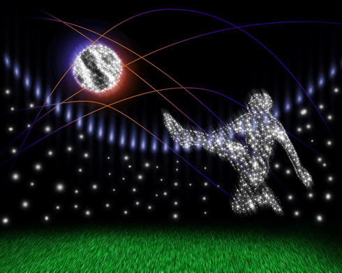 Create Soccer goals design in Photoshop CS3