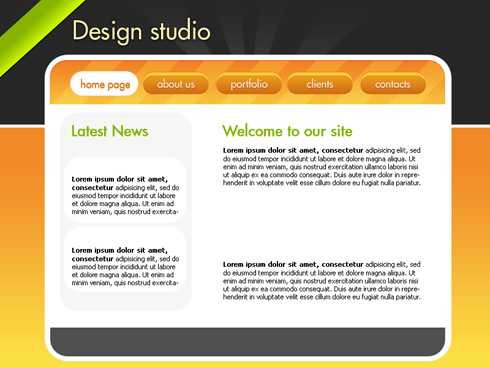 Create Design Studio Website in Photoshop CS3