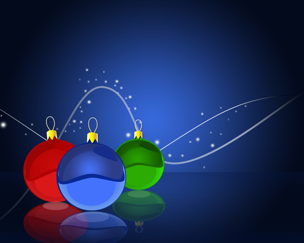 Design Christmas balls wallpaper in Photoshop CS3