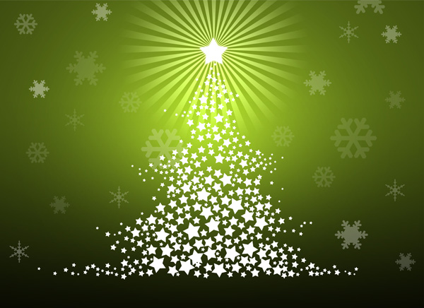 Merry Christmas tree design in Photoshop CS3