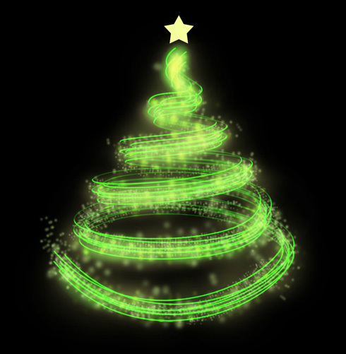 Merry Christmas Tree in Photoshop CS3