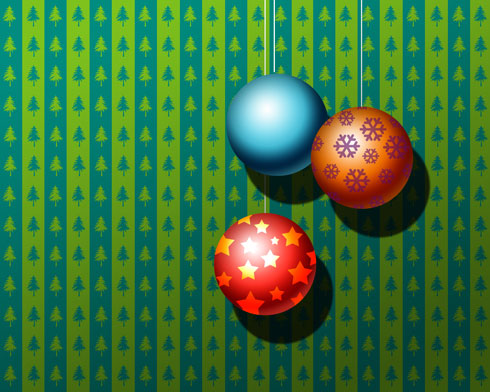 Create Christmas ornament balls in Photoshop CS3