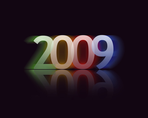 2009 Multi-colored text effect in Photoshop CS3