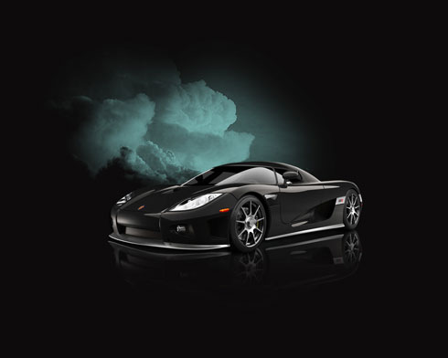 Create Urban Koenigsegg CCX wallpaper in Photoshop CS3