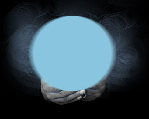 Create an Magic Crystal Ball on the hands in Adobe Photoshop CS4