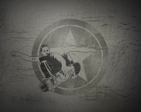 Create a Grunge Skateboarding Illustration in 