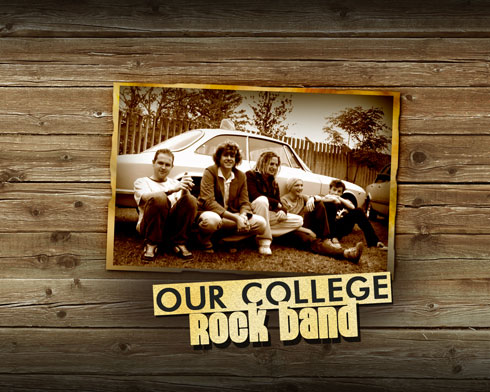 Designing College Rock Band illustration in Photoshop 