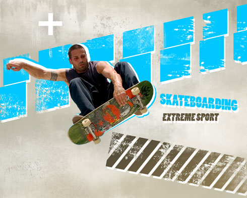 Create Interesting Skateboarding Illustration in Photoshop CS4