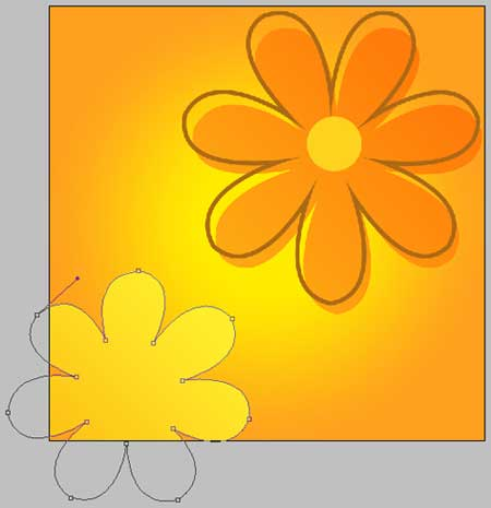 Create Background of flowers and butterflies in Photoshop CS