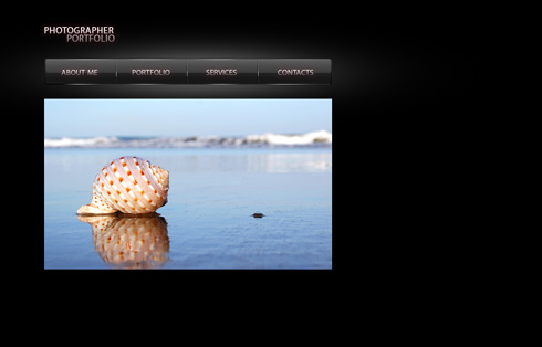 Create a nice looking photographer portfolio layout in Adobe Photoshop CS3
