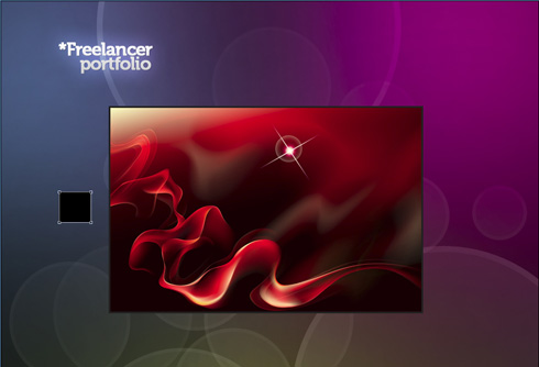 Create a clean Freelancer portfolio layout in Adobe Photoshop CS3