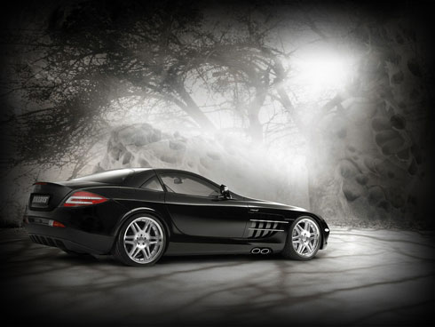 Design Grunge Mercedes Benz wallpaper in Adobe Photoshop CS4