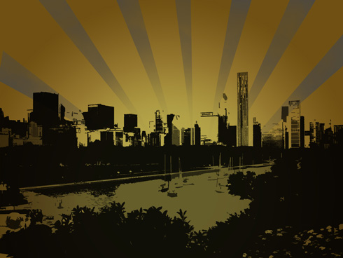 Turn your photo of a city into an amazing grunge city in Adobe Photoshop CS4