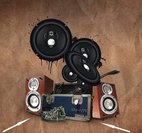 Create a grunge music poster in Adobe Photoshop CS4