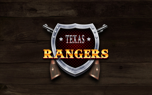 Make an artistic Texas Rangers design wallpaper in Photoshop CS4