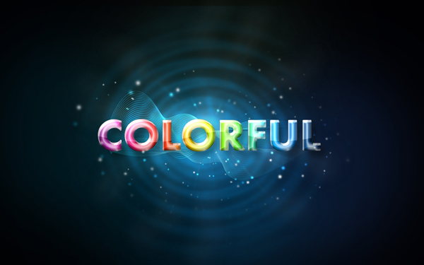 Create a glowing text effects form a scratch in Adobe Photoshop CS3