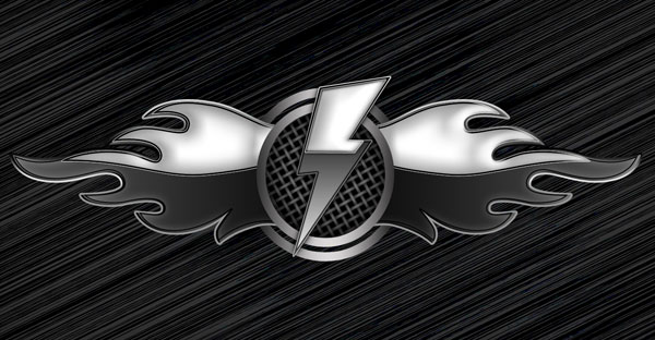Make a special metallic emblem with flames in Adobe Photoshop CS4