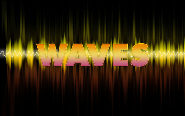 Create Wave's text effect in Adobe Photoshop CS3