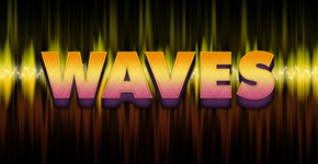 Freebie Release: Wave's text effect – Free PSD