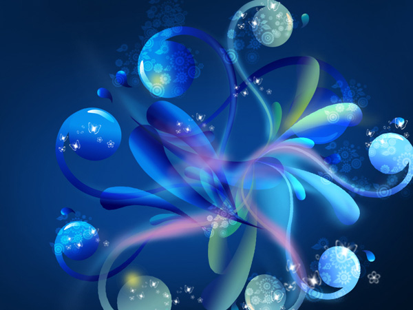 Create an abstract glowing background in Adobe Photoshop CS4