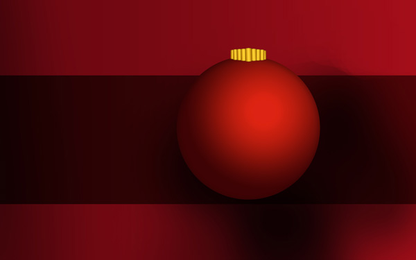 Design Christmas card with tree balls in Photoshop CS4