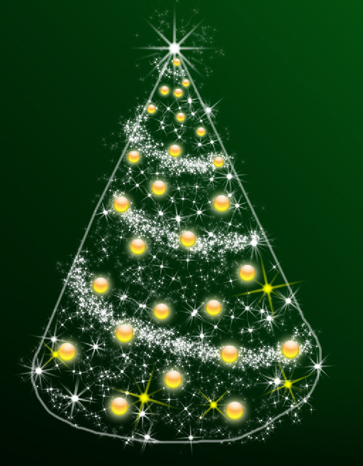 Design a simple illustration for Christmas in Adobe Photoshop CS4