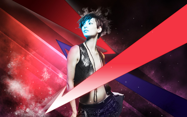 Create a galactic girl photo manipulation in Adobe Photoshop CS4